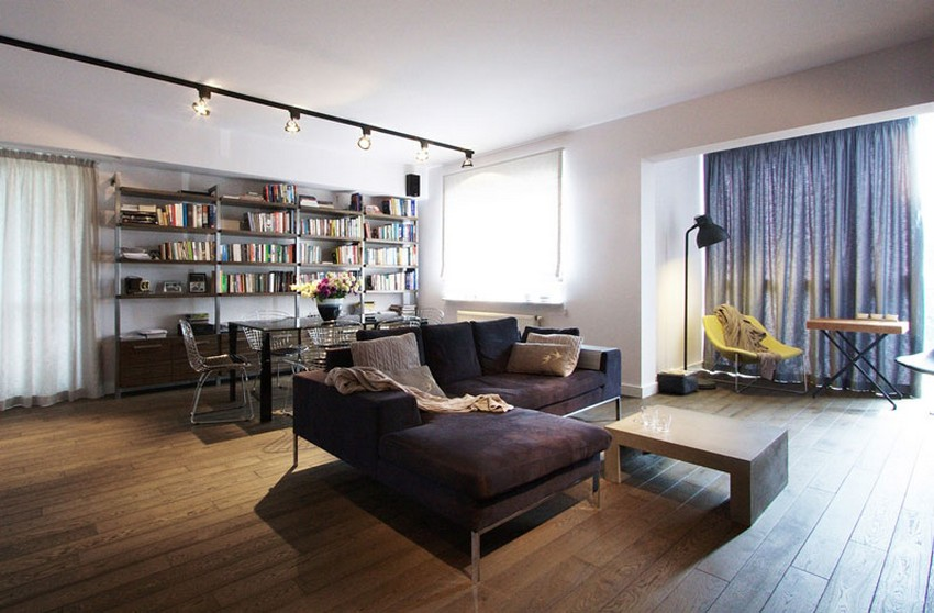 Open Layout Apartment In Warsaw Exhibiting Fresh Industrial Design