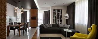 Intriguing Array of Textures Displayed by Graphite Penthouse in Kiev