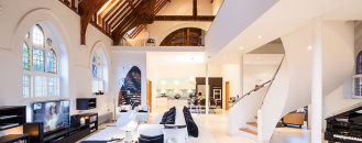 Historic Church in London Transformed Into Contemporary Home by Gianna Camilotti Interiors