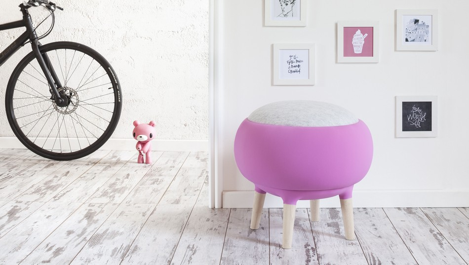 Cute Pouf You Can Mistake for a Half-Shorn Sheep: Cora by Manrico Freda