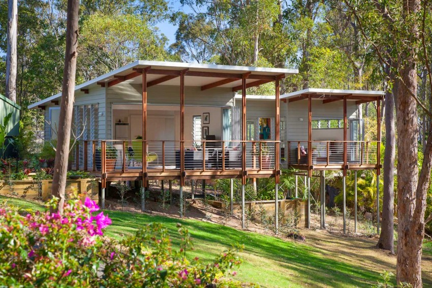 Practical And Inspiring Tree House Granny Flat In Queensland