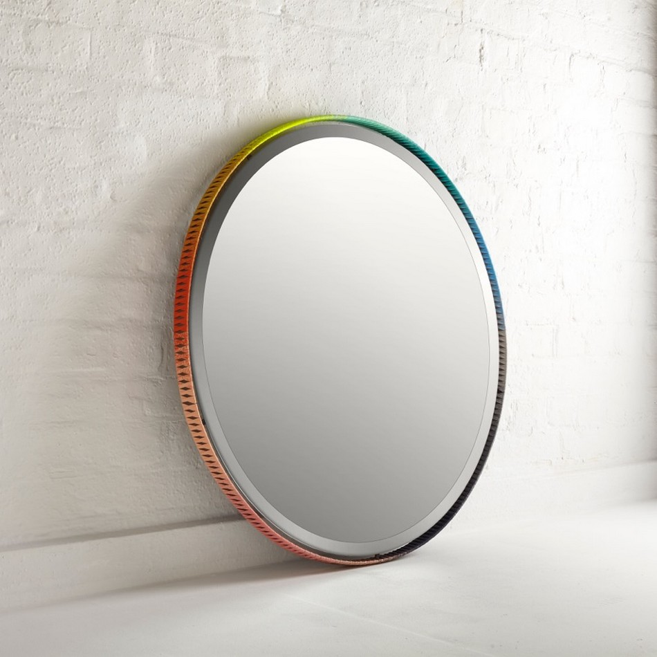 Colorful Hand-Braided Mirror Frames for Artistic Modern Decorating Schemes