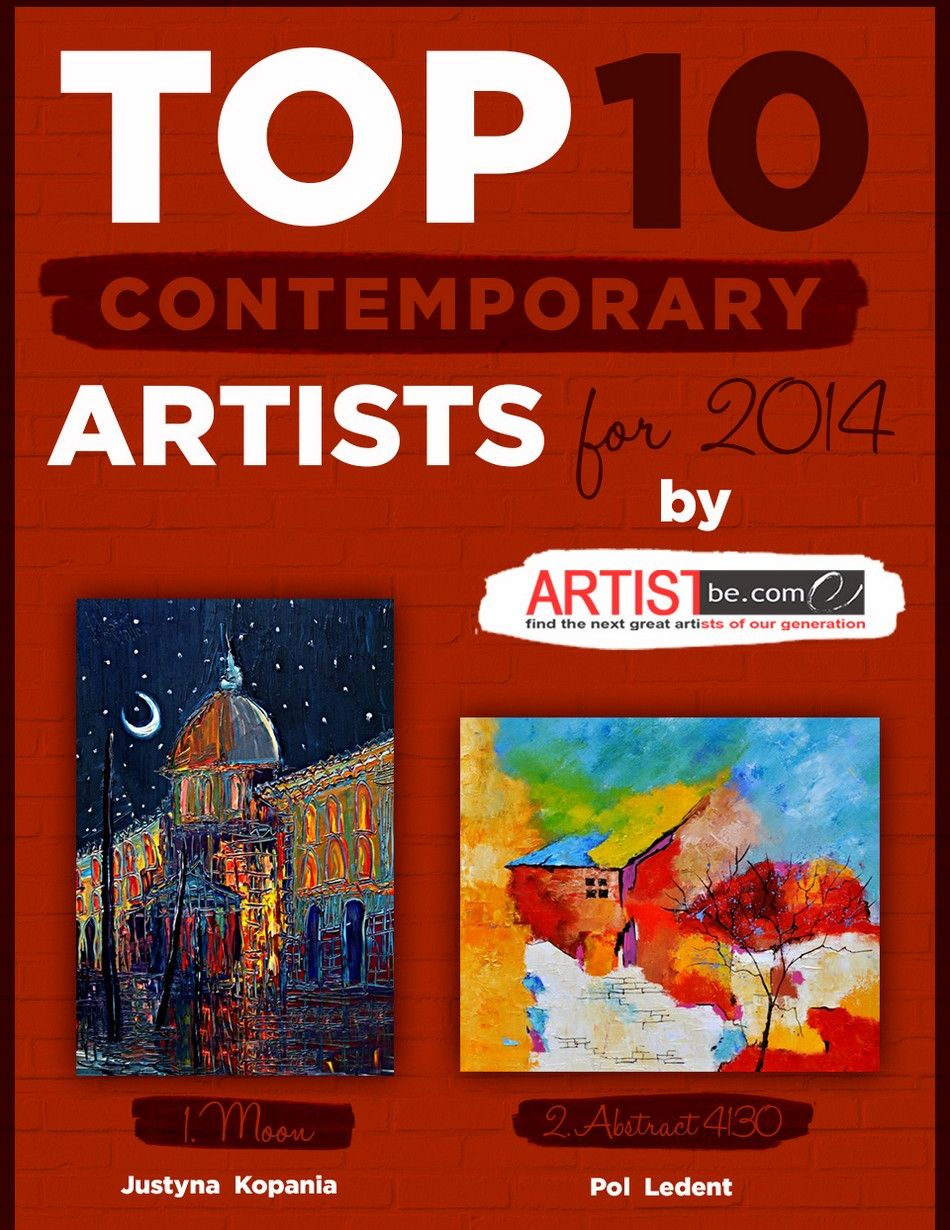 Top 10 Contemporary Artists for 2014 Announced by Artist Become
