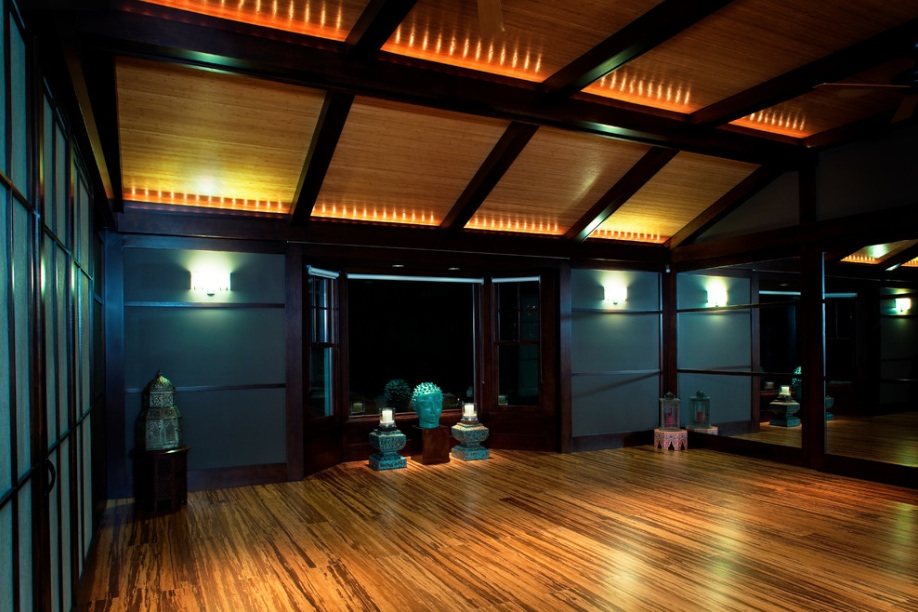 dark meditation room