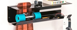 Wall Mounted Rack for Proudly Displaying Your Skateboard by Zanocchi&Starke