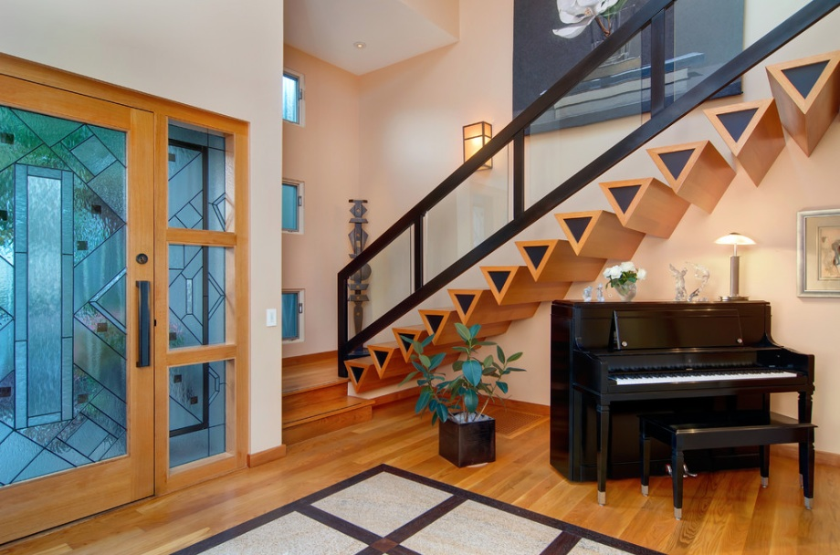 eclectic stairs