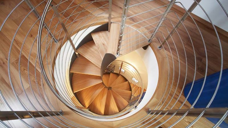 New Spiral Staircases Majestically Combining Wood and Steel by Rizzi Studio