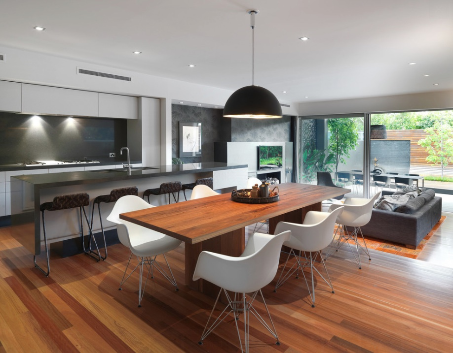 modern kitchen hardwood floors