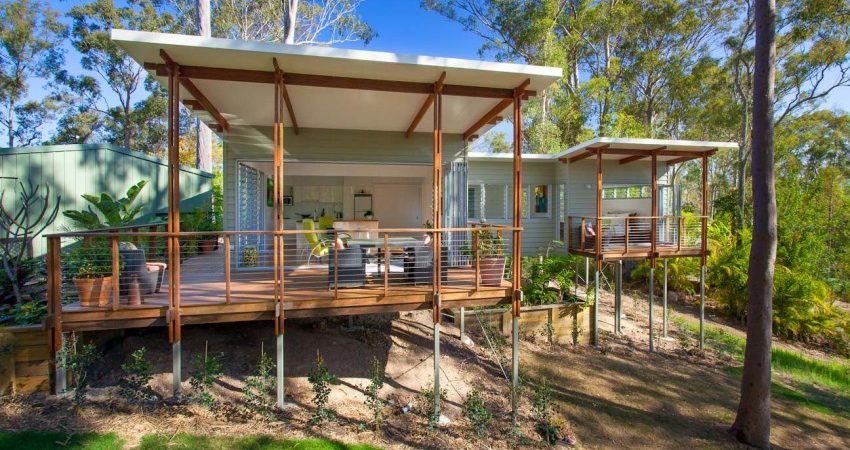Practical and Inspiring Tree-House Granny Flat in Queensland, Australia