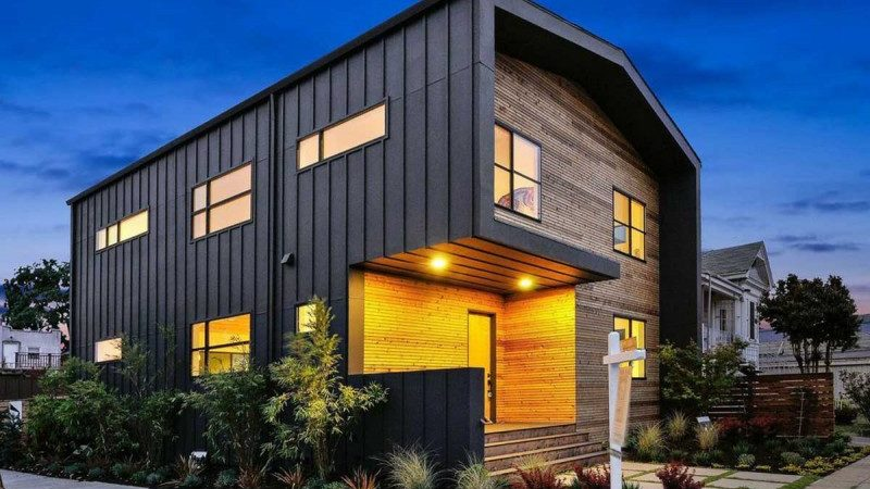 Wood and Metal Home Skin Embracing Cozy Family Nest
