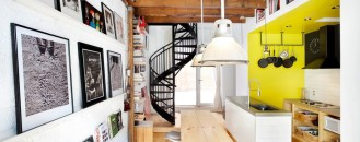 Small Live/Work Project Filled With Art, Color and Energy: The Tire Shop in Canada
