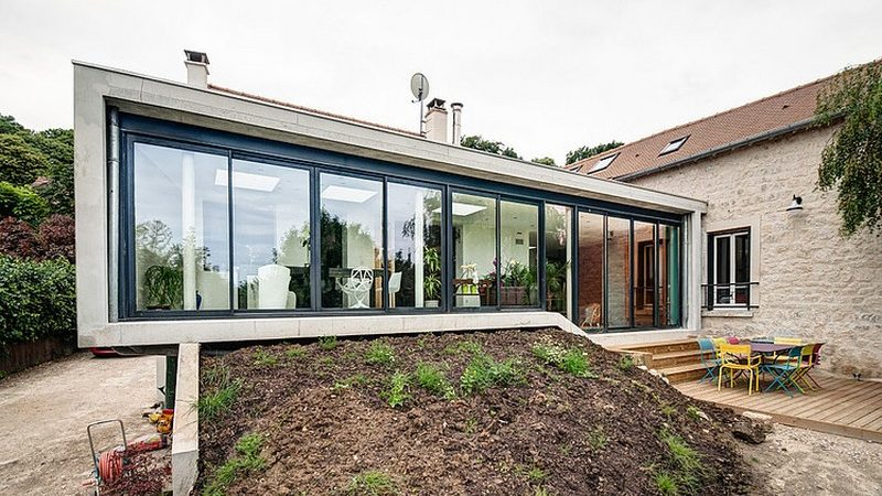 Connecting Three Historic Dwellings with a Modern Extension: Inspiring House in Vexin