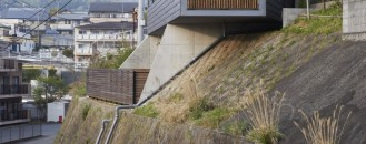 Striking MS House Ingeniously Adapted to a Sloping Site in Mishima, Japan
