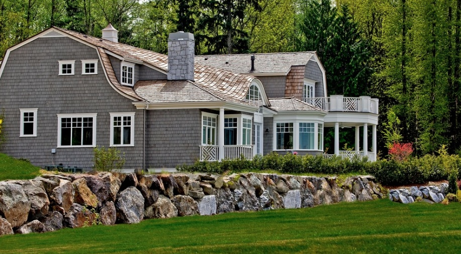 cedar shingle house white trim