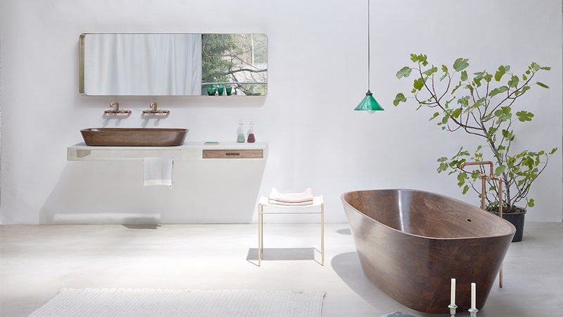 Exceptional Shell Bathtub & Wash Basin Meant to Induce Comfort and Good Vibes