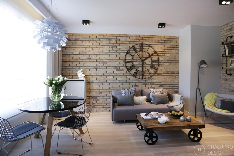 Post-Industrial Apartment in Warsaw Exhibiting a Clean and Elegant Design [Video]