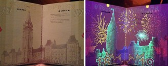 Hidden Illustrations Revealed Under UV Lighting by Canada's Newest Passport Designs