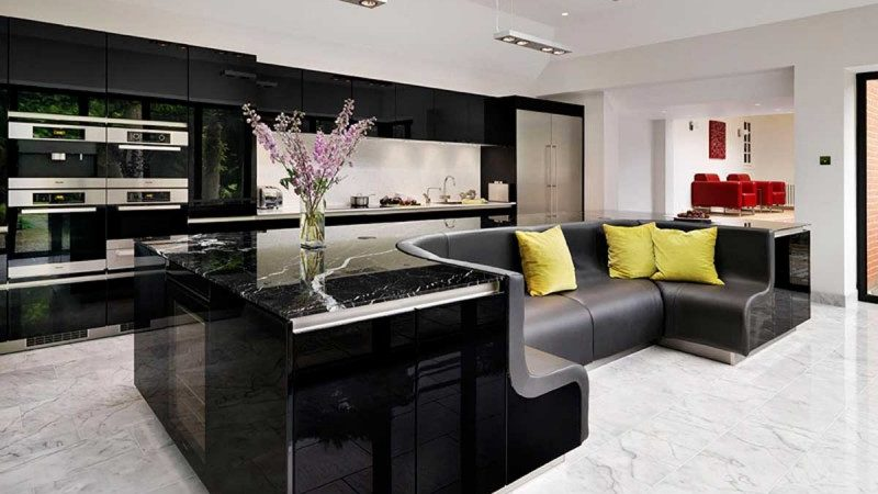 Kitchen Island With Built-in Sofa Upgrades Stylish Home