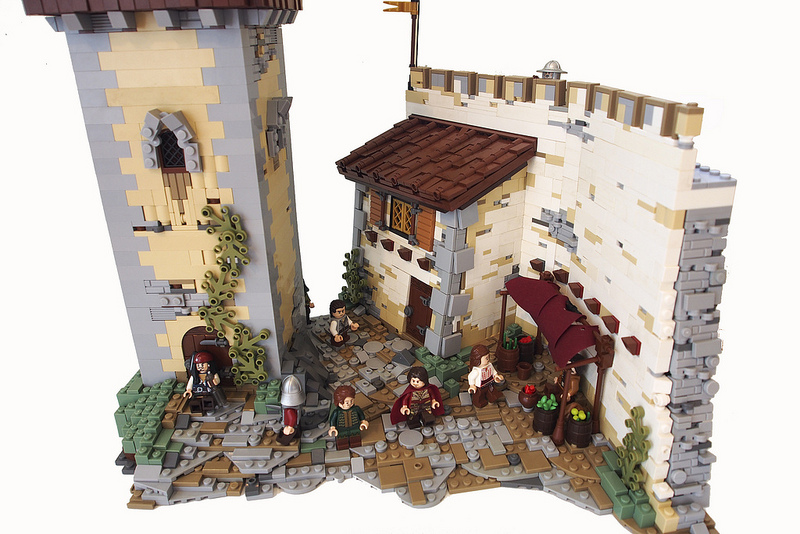 Medieval Lego Houses Inspired By The Lord Of The Rings And Other