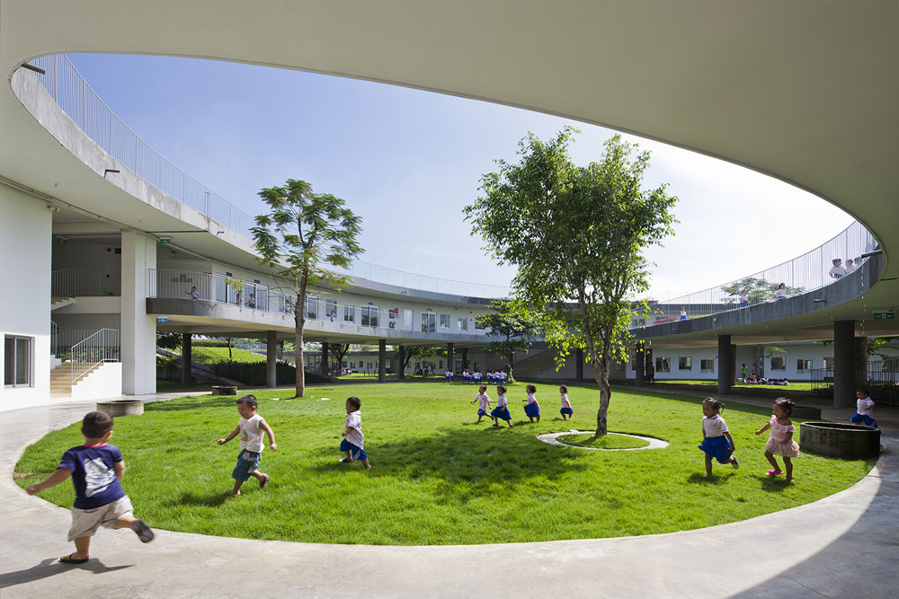 Farming Kindergarten by Vo Trong Nghia Architects (11)