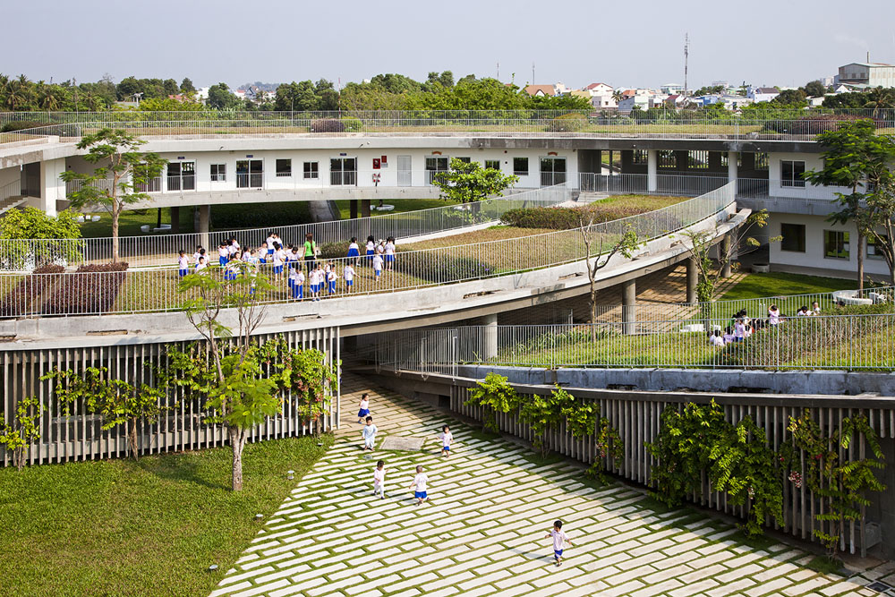 Farming Kindergarten by Vo Trong Nghia Architects (8)