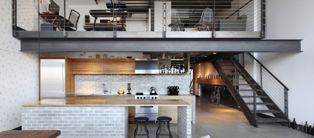 Industrial Loft in Seattle Functionally Blending Materials and Textures