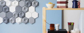 Edgy Hexagonal Concrete Tiles Building Decorative Landscapes