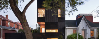 Dark Modern Home in Toronto Illuminated From the Inside