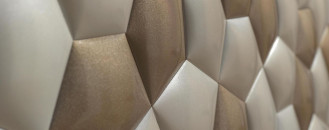 Ceramic Wall Covering Inspired by Mathematics Patterns in Nature
