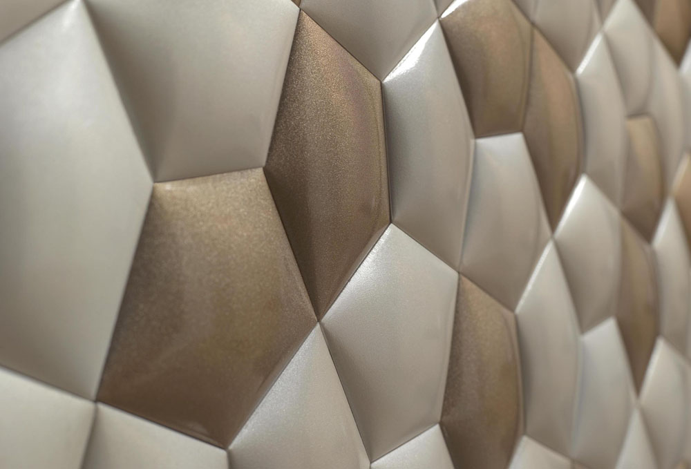 . Ceramic Wall Covering Inspired by Mathematics Patterns in Nature