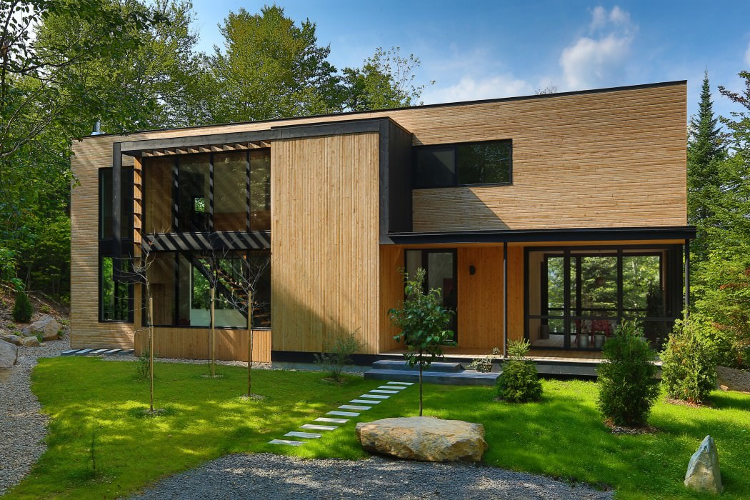 Wooden Home In The Forest Assembling Forces Of Nature