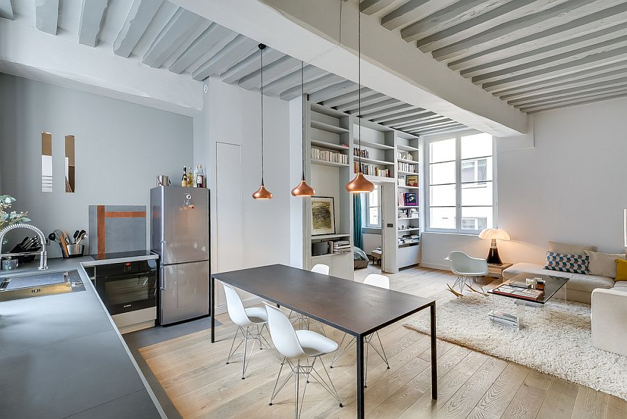 Lovely Small Apartment in Paris Mixing Contemporary and Classic ...
