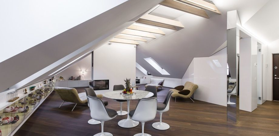 Modern Attic Apartment in Vilnius Disclosing Views of the Old Town: DO Project by YCL
