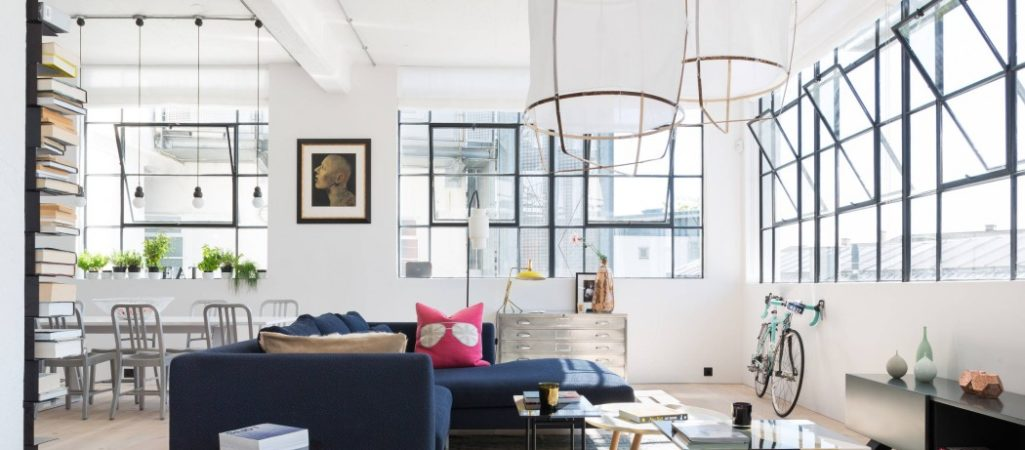 An Industrial, Colorful Loft in London