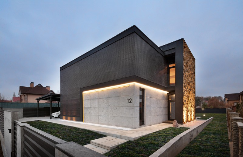 Volumetric Architecture Shaping Sophisticated Home in Ukraine