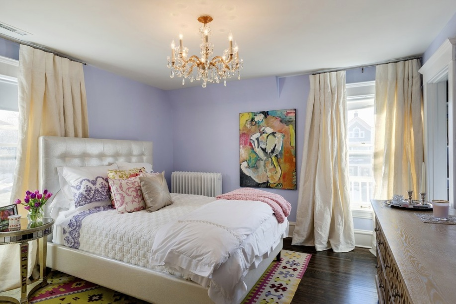 bedroom purple walls curtains carpet & How Interior Designers Can Increase Their Incomes | Freshome.com