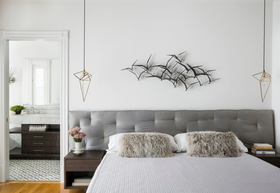 modern bedroom headboard lighting