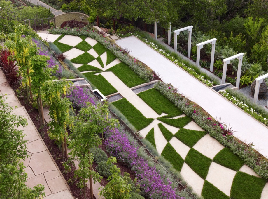 Superior Modern Garden Geometric Stone Path. Your Landscape Design ...