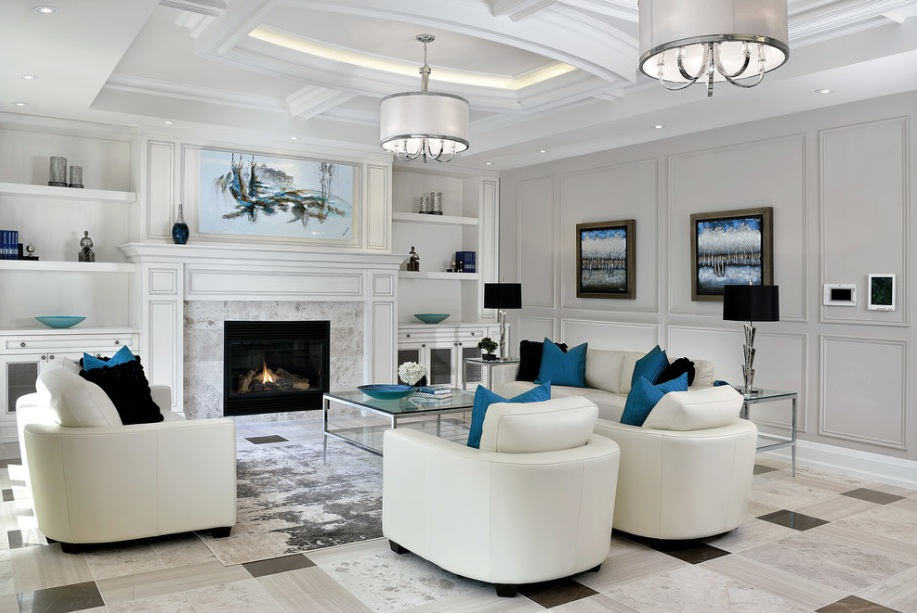 Modern White Living Room Ceiling Light