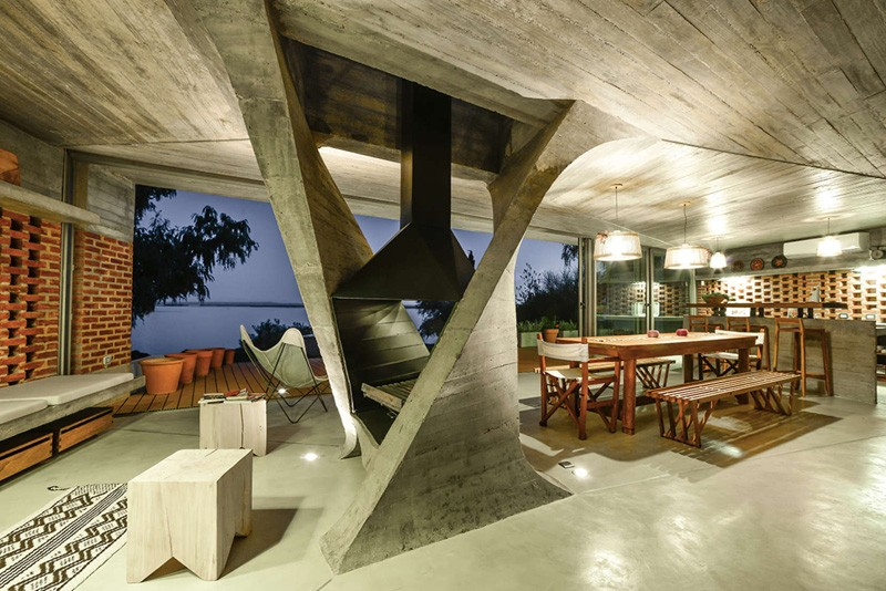 Summer House In Argentina Defined By Twisted Concrete