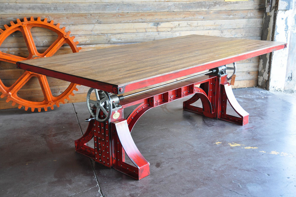 Crank Table design by Vintage Industrial