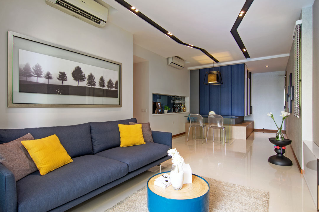 Asymmetrical Apartment Design With Undulating Surfaces In Singapore