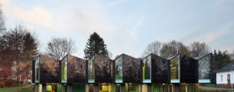 Intricate Folding Facade Showcased by Modern Nursery Design in Marburg, Germany