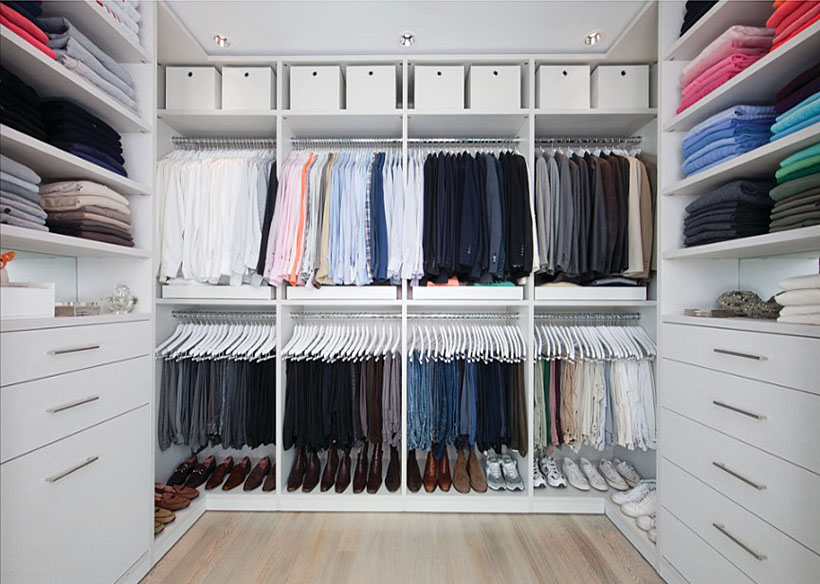 impressive yet elegant walk in closet ideas freshome com rh freshome com small space walk in closet design small bedroom design with walk in closet
