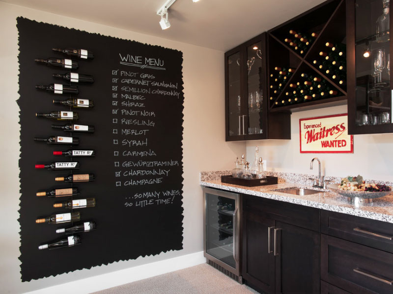 exceptional Kitchen Walls Pictures Part - 14: kitchen decorating idea for chalkboard paint