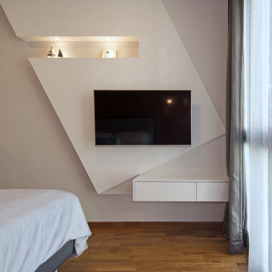 Bedroom Before And After Pictures Bedroom Colors Photos Bedroom Tv Unit Color Schemes For Bedroom: Asymmetrical Apartment Design With Undulating Surfaces In Singapore