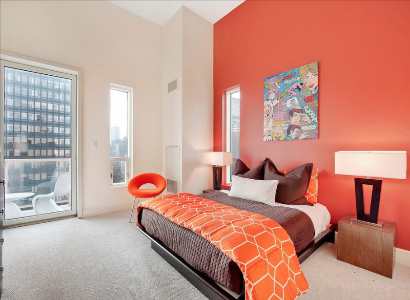 attractive Wall Paint Ideas For Bedroom Part - 6: Collect this idea orange-room