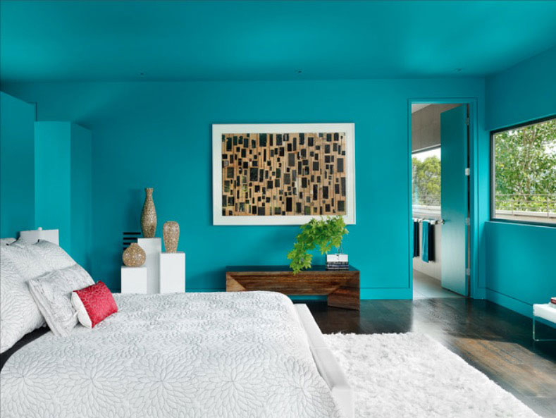 Bedroom colors Dark Bold Turquoise Freshomecom Bedroom Paint Ideas Whats Your Color Personality Freshomecom