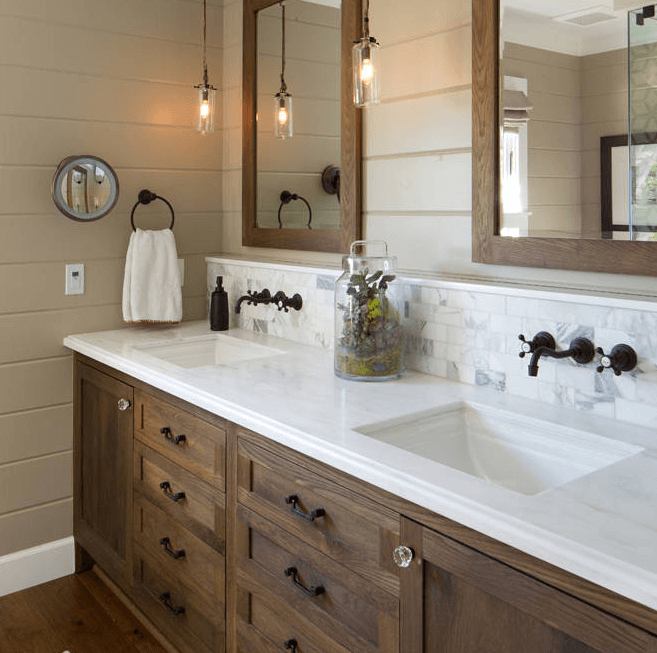 Custom White Bathroom Vanities Creative