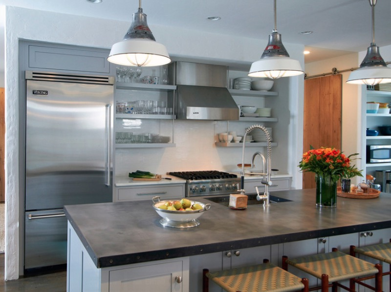 Zinc Countertops & kitchen Countertop Ideas: 30 Fresh and Modern Looks